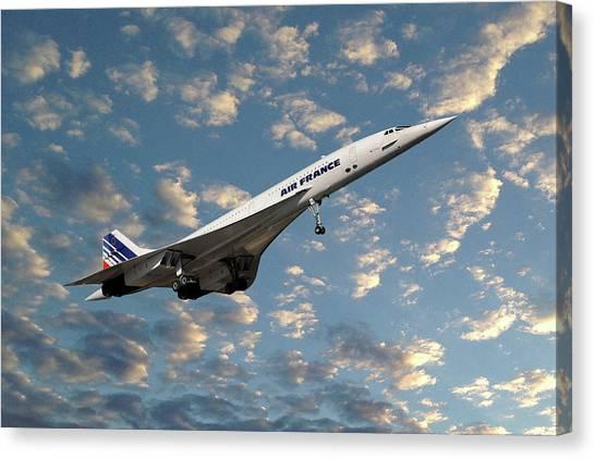 Passenger Plane Canvas Print - Air France Concorde 119 by Smart Aviation