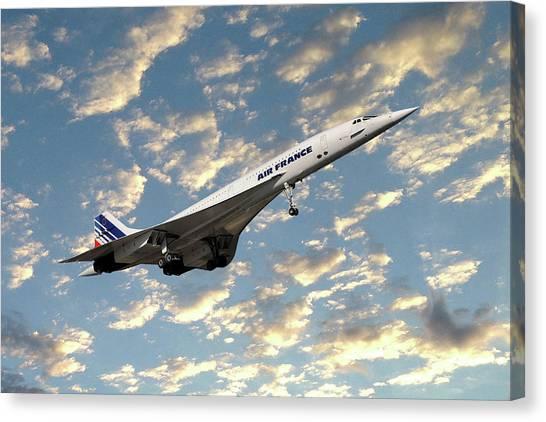 Passenger Plane Canvas Print - Air France Concorde 120 by Smart Aviation