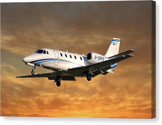 Cessnas Canvas Print - Air Hamburg Cessna 560xl Citation Xls 2 by Smart Aviation