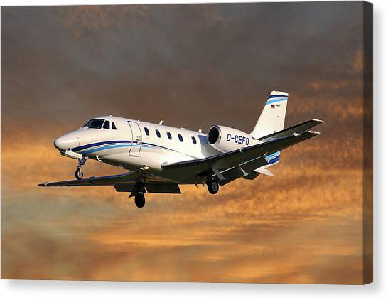 Cessnas Canvas Print - Air Hamburg Cessna 560xl Citation Xls 3 by Smart Aviation