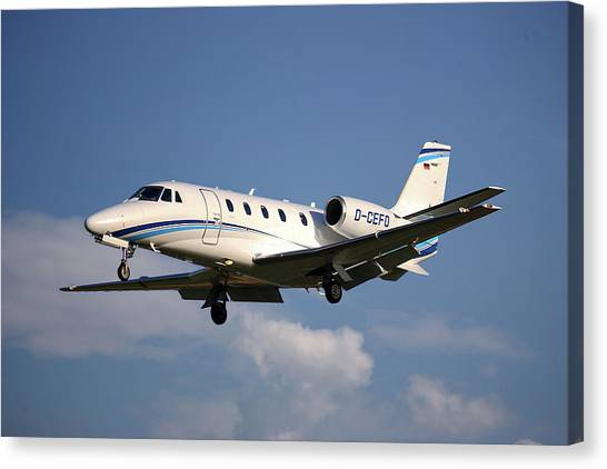 Cessnas Canvas Print - Air Hamburg Cessna 560xl Citation Xls 4 by Smart Aviation