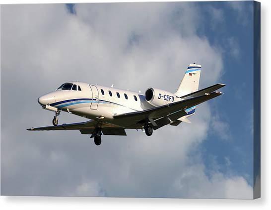 Cessnas Canvas Print - Air Hamburg Cessna 560xl Citation Xls 5 by Smart Aviation