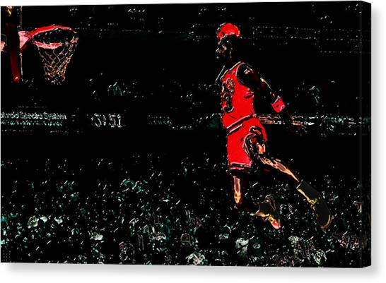 Utah Jazz Canvas Print - Air Jordan In Flight 3g by Brian Reaves