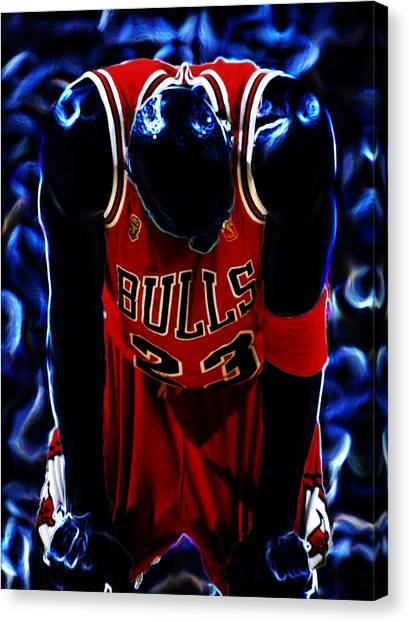 Utah Jazz Canvas Print - Air Jordan Never Quit by Brian Reaves