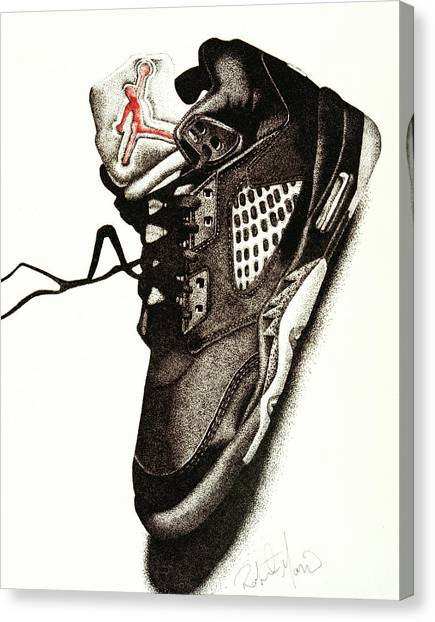 Athlete Canvas Print - Air Jordan by Robert Morin