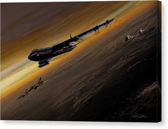 Linebackers Canvas Print - Air Power Legends by Peter Chilelli
