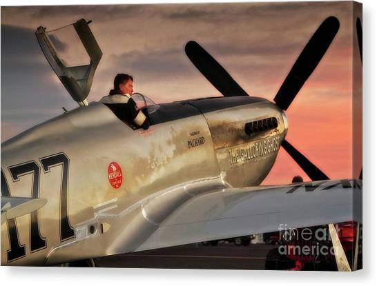 'air Racing Legends Jimmy Leeward And  The Galloping Ghost' Canvas Print
