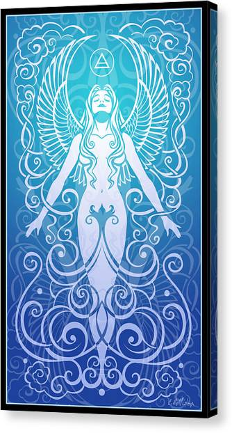 Celtic Art Canvas Print - Air Spirit by Cristina McAllister