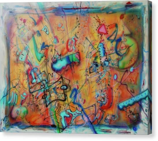 Digital Landscape, Airbrush 1 Canvas Print
