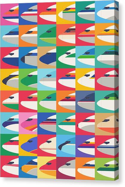 Spring Canvas Print - Airline Livery - Small Grid by Ivan Krpan