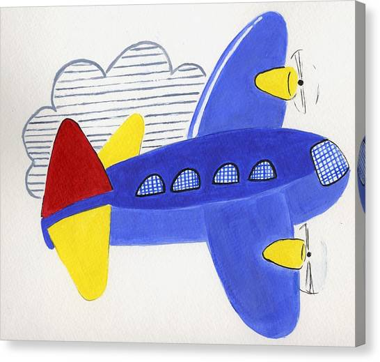 Airplane Canvas Print by Christine Quimby