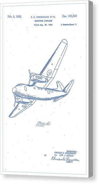 Airplane blueprint canvas prints page 9 of 19 fine art america airplane blueprint canvas print airplane design patent 1945 blueprint drawing by celestial images malvernweather Images
