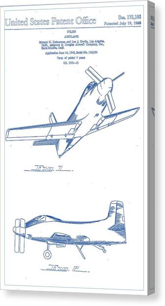 Airplane blueprint canvas prints page 9 of 19 fine art america airplane blueprint canvas print airplane design patent 1955 blueprint drawing by celestial images malvernweather Images