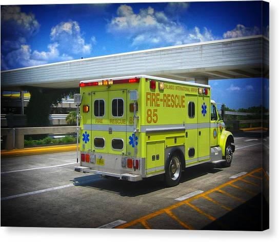 Airport Ambulance Canvas Print