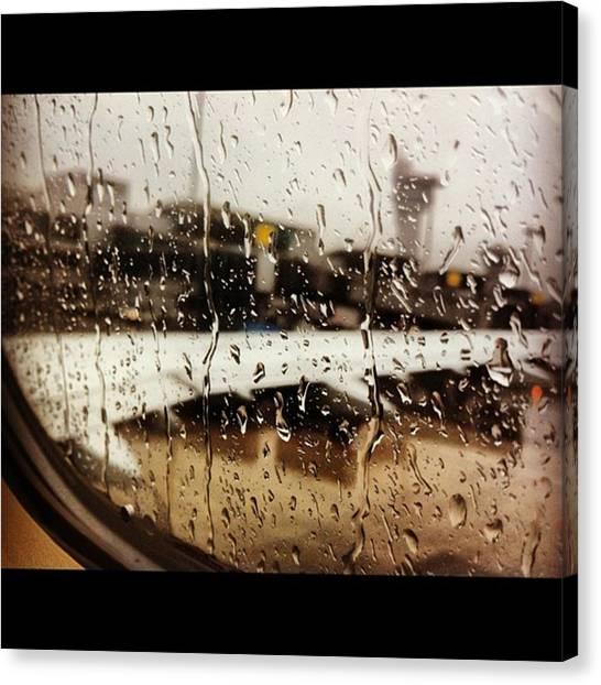 Pegasus Canvas Print - #airport #istanbul #takenbyme by Merve Mingir