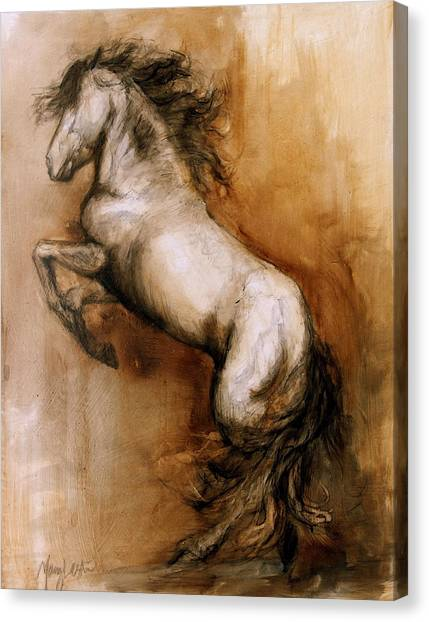 Horses Canvas Print - Airs Above by Mary Leslie