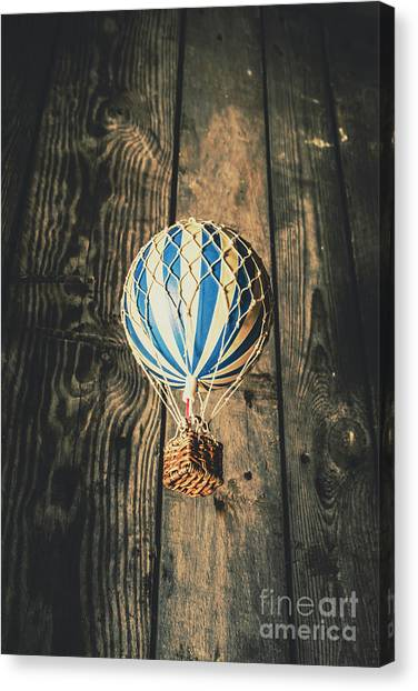 Hot Air Balloons Canvas Print - Airs Of An Indoor Retreat by Jorgo Photography - Wall Art Gallery