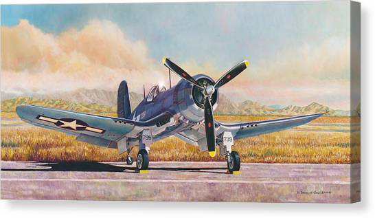 Airshow Corsair Canvas Print