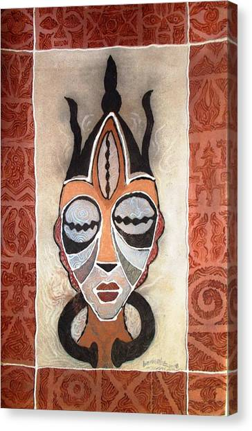 Aje Mask Canvas Print