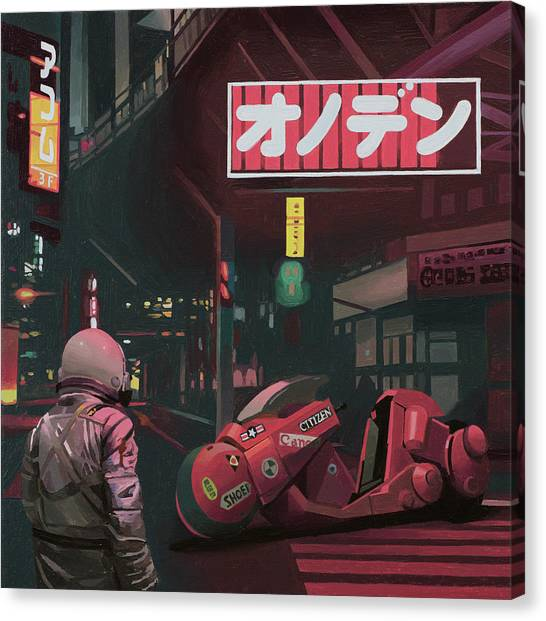Tokyo Canvas Print - Akira by Scott Listfield