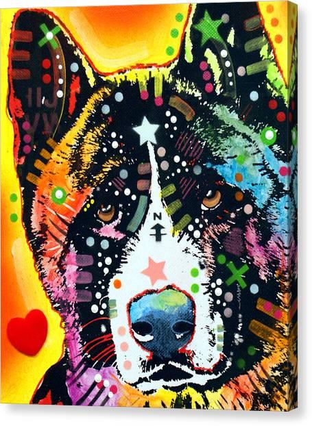 Akita 2 Canvas Print