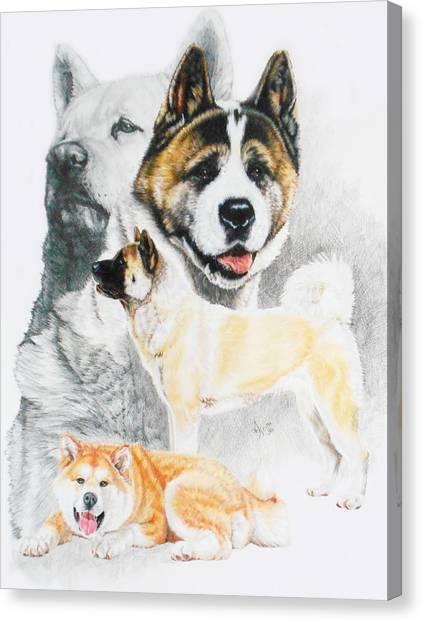 Canvas Print - Akita Ken Revamp by Barbara Keith