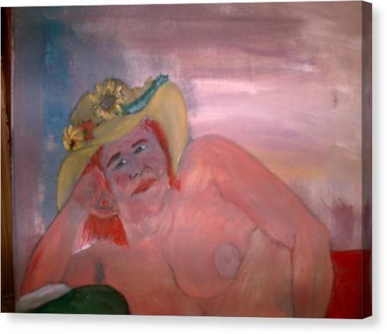 Akt Roswita Canvas Print by Rosario Triglia