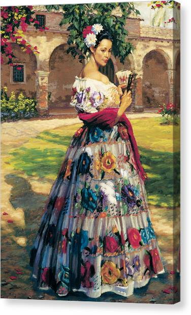 Mission Canvas Print - Al Aire Libre by Jean Hildebrant