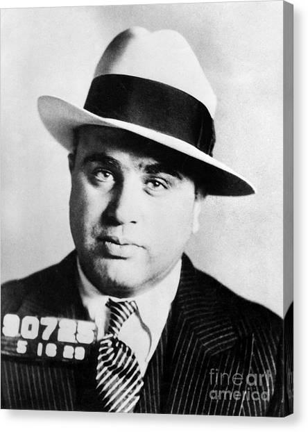 Bartender Canvas Print - Al Capone Mugsot by Jon Neidert