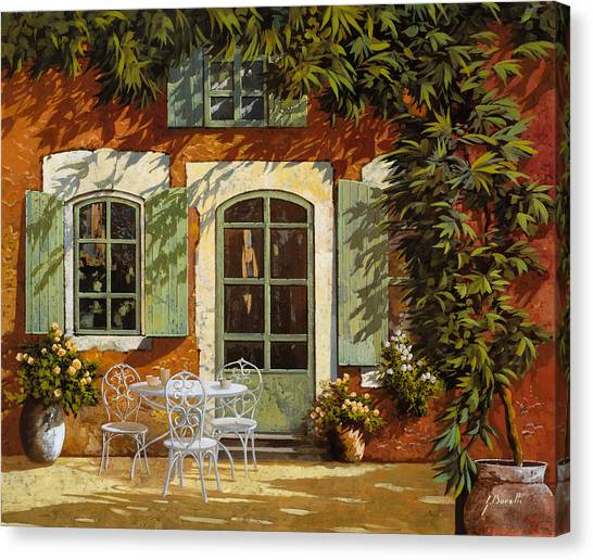 Bar Canvas Print - Al Fresco In Cortile by Guido Borelli