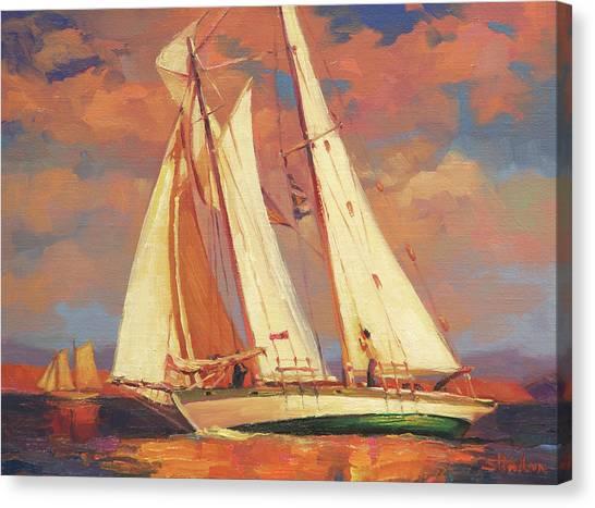 Sail Boats Canvas Print - Al Fresco by Steve Henderson