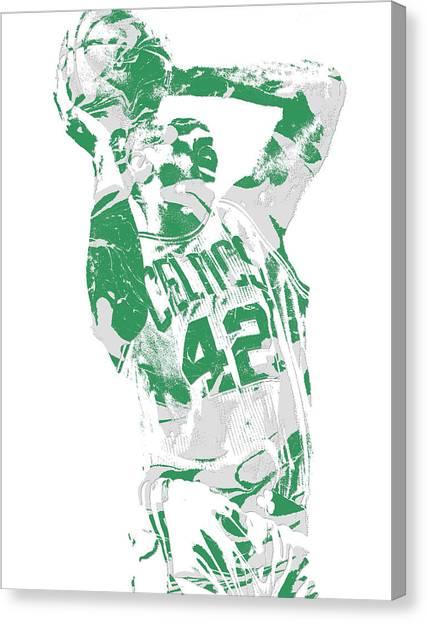 Boston Celtics Canvas Print - Al Horford Boston Celtics Pixel Art 8 by Joe Hamilton