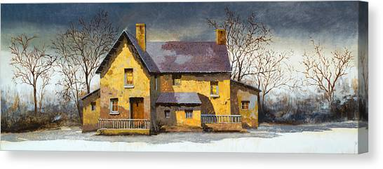 Houses Canvas Print - Al Mattino by Guido Borelli