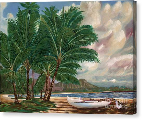 ala moana beach II Canvas Print