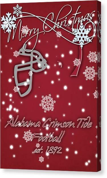 Alabama Canvas Print - Alabama Crimson Tide Christmas Card 2 by Joe Hamilton
