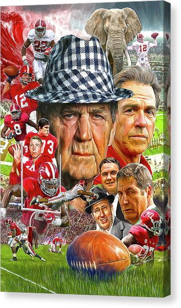 Goal Canvas Print - Alabama Crimson Tide by Mark Spears