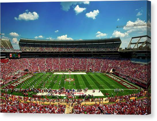 Conference Usa Canvas Print - Alabama Football - Spring Game by Mountain Dreams