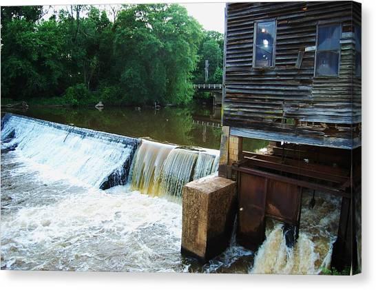 Alabama Grist Mill Dam Canvas Print by Beverly Hammond