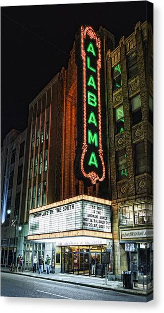 The University Of Alabama Canvas Print - Alabama Theater by Stephen Stookey