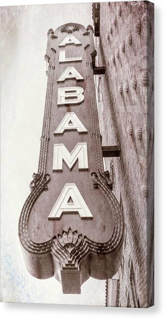The University Of Alabama Canvas Print - Alabama Theatre #3 by Stephen Stookey