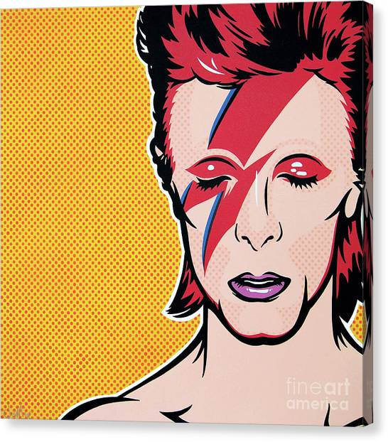 David Bowie Canvas Print - Aladdin Sane by James Lee