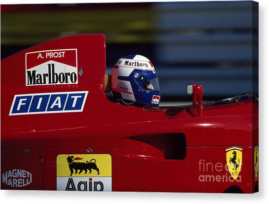 Alain Prost. 1990 French Grand Prix Canvas Print