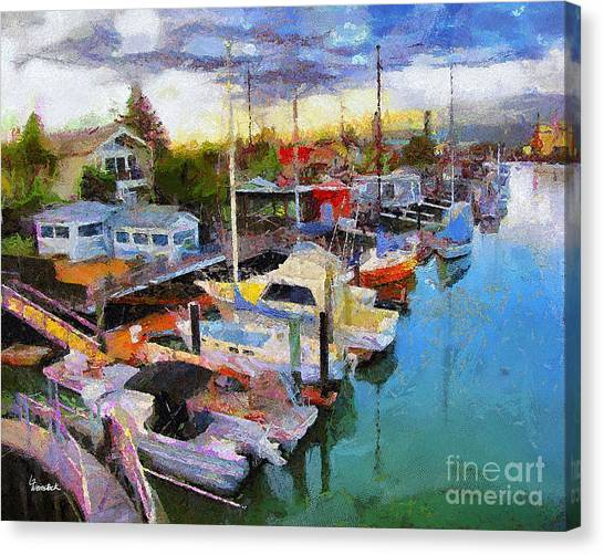 Alameda Life On The Estuary 2 Canvas Print