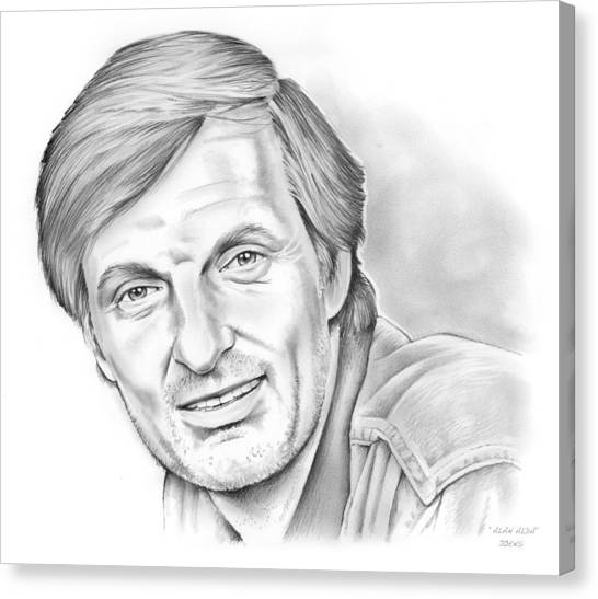 Alan Alda Canvas Print