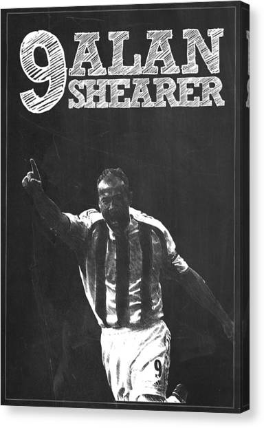 New York Red Bulls Canvas Print - Alan Shearer by Semih Yurdabak