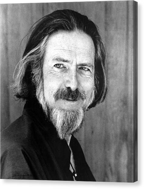 Philosopher Canvas Print - Alan Watts, Early 1970s by Everett
