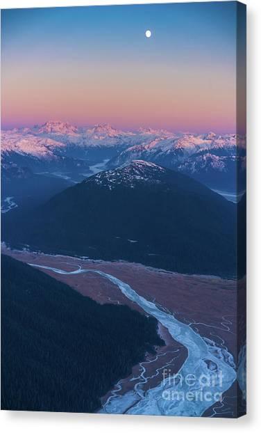 Seaplanes Canvas Print - Alaska Aerial Stikine River Ice Flows by Mike Reid