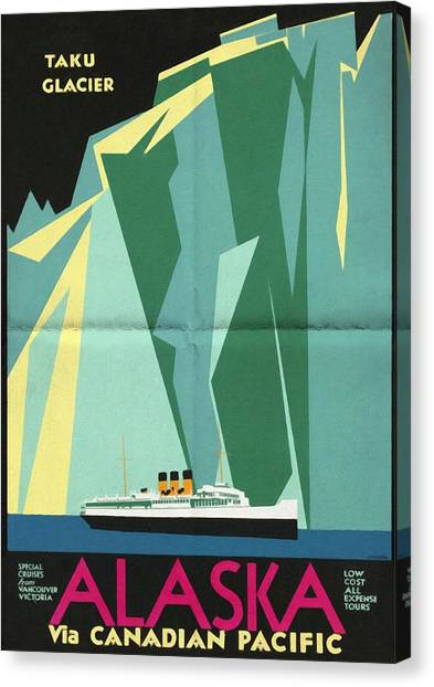 Alaska Canadian Pacific - Vintage Poster Folded Canvas Print