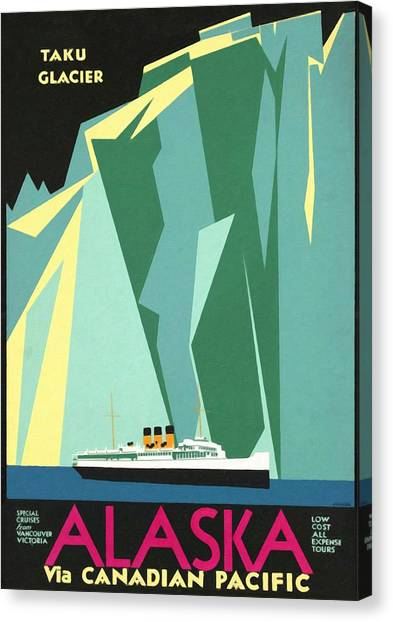 Alaska Canadian Pacific - Vintage Poster Restored Canvas Print