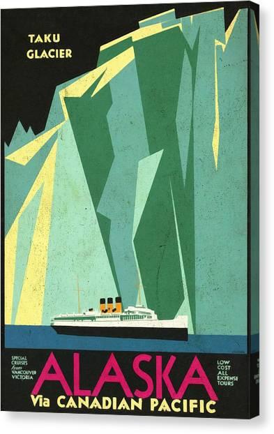 Alaska Canadian Pacific - Vintage Poster Vintagelized Canvas Print